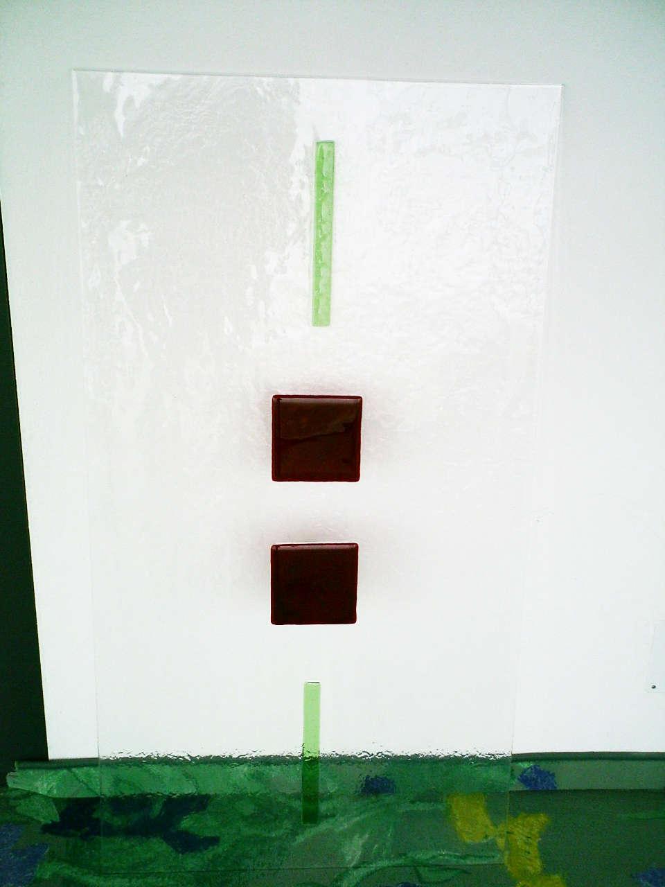 Schmelzglas rot und grün