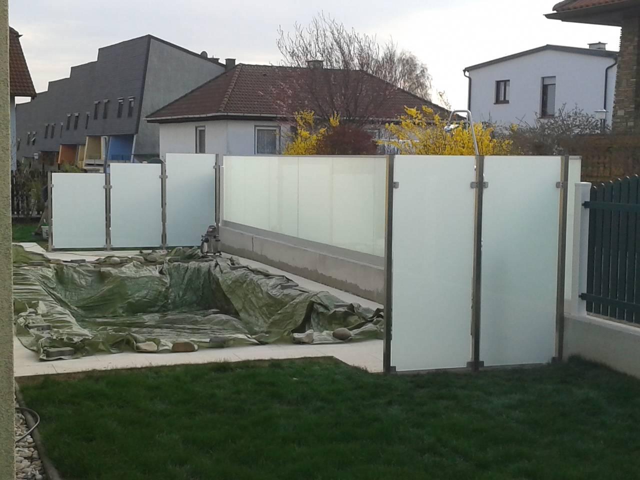 Sicht  und Windschutz   Glas Lunzer